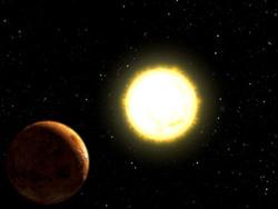 enana roja y planeta