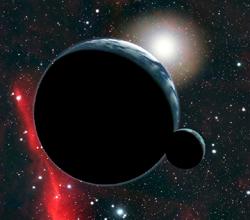 exoplaneta con luna