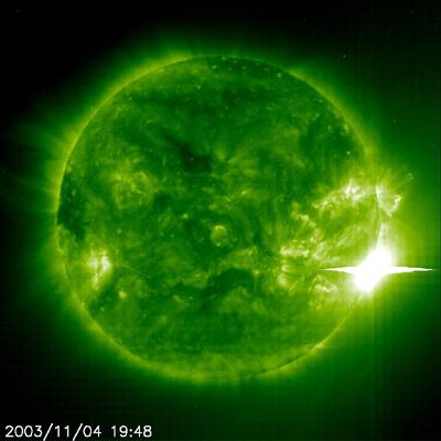 fulguracion solar